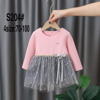 Dress Import Anak Warna Pink