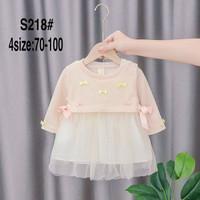Dress Import Anak Motif Warna Pink