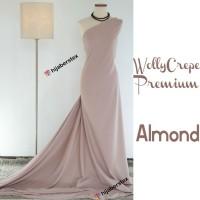 HijabersTex 1/2 Meter Kain WOLLYCREPE PREMIUM Almond