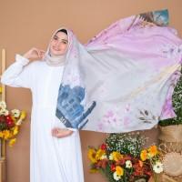 Taj Mahal Purple Sky Premium Hijab/ Jilbab/ Scarf / Kerudung
