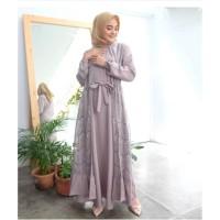 IVORY MAXI LONGDRESS DRESS MAXI MURAH DRESS BRUKAT DRESS SIMPLE
