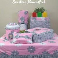 HOMESET / GKM SET MOTIF SUN FLOWER PINK ABU KODE 773