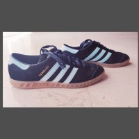 Adidas Hamburg Originals Pre-loved Core black / Blush Blue