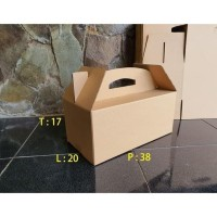 HOT SALE Box Bingkisan Kardus Parcel Lebaran / Model Jinjing