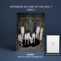 Notebook BTS Map Of The Soul 7 / Persona / Love Your Self - Ukuran A5