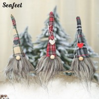 Seafeel Long Hat Gnome Doll Pendant Door Wall Tree Hanging Ornament