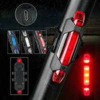 Isi Ulang 4 Mode Tahan Air Lampu LED Depan Belakang Sinar Terang