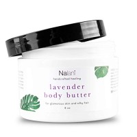 Lavender Shea Body Butter Cream Organic Skin + Hair Care: All-Natural