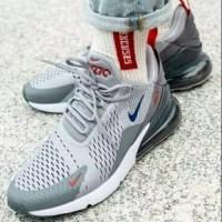 Sepatu Sneakers Pria Wanita Couple Unisex Nike Airmax 270 Wolf Grey