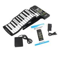 Piano Silikon Elektronik 88 Kunci Fleksibel dengan Suara Kencang