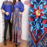 Couple Dress Maxi Gamis Athifah dan Kemeja Batik Pria