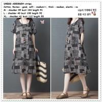 AB538654 Casual Midi Mini Dress Santai Katun Wanita Korea Import