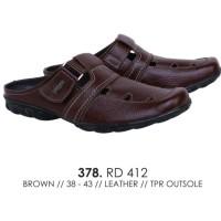 sepatu sandal bustong pria bustong kulit ori catenzo RD 412