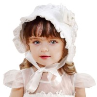 Topi Lace Style Princess Ala Eropa Aksen Bunga untuk Perempuan