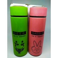 Termos Animal Glass 450 Ml / Botol Air Minum Animal Termos Kaca
