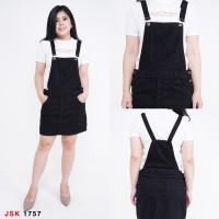 Bisa COD Baju Rok Kodok Warna Hitam/ Jumpsuit Pendek / Overall Skirt