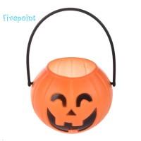 Halloween Pumpkin Trick Treat Loot Sweet Candy Carry Holder Jar Jug