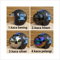 Stok Baru helm bogo dewasa gambar stitch warna hitam biru