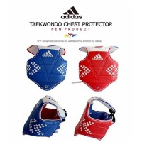 One Dual use) Adidas ® Taekwondo Vest Chest Protector (Merah