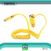 REMAX 2.4A xiaohuangren 2in1 Kabel Charger Mobil untuk iPhone Micro