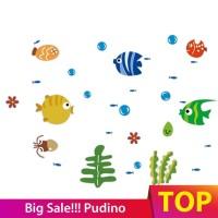 untuk Kamar Anak Stiker Dinding Decal Desain Ikan trcal
