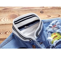 Ukuran besar Jaket pria jaket jeans trucker denim SIZE : S~5XL