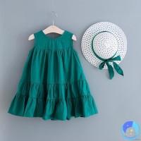 Girls Dress, Summer Baby Girl A-line Sleeveless Princess Dress +Hat