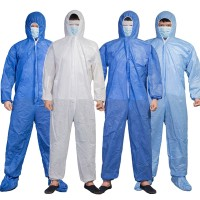 Coverall Unisex Disposable Laboratory Hospital Hood Isolation Gown
