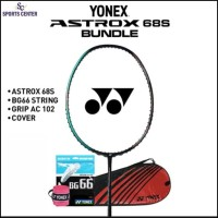 BIG SALE Full Set Raket Badminton Yonex Astrox 68S / 68 S EKSLUSIF