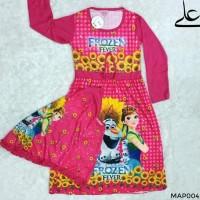 Baju Muslim Gamis Anak Perempuan 4 5 6 7 Tahun MAP004 - Merah, S