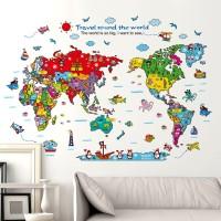 Stiker Dinding / Kaca / Wall Sticker (Travel Around the World)