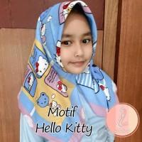 Jilbab Anak Motif Lucu Segiempat Kerudung Anak Motif Printing Hijab