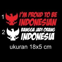 cutting sticker mobil motor bangga jadi orang Indonesia