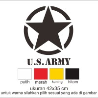 cutting sticker mobil us army satuan