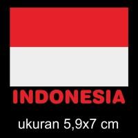 cutting sticker mobil motor bendera indonesia 01
