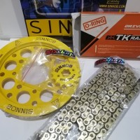 gear SET SINNOB Rantai TK O-RING NEW CBR 150 K45 K45G FACELIFT CBU
