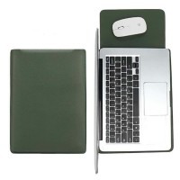 Tas Laptop Softcase Sleeve Slim PU Leather 14 inch green