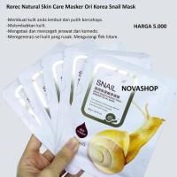 Rorec Snail Sheet Masker Tisu Untuk Kulit Berjerawat & berminyak
