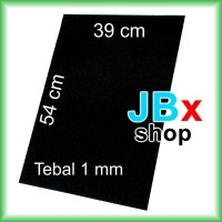 Rubber magnet sheet lembaran hitam tebal 1mm x 39cm x 54cm
