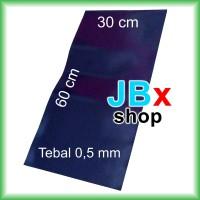 Rubber magnet sheet lembaran hitam tebal 0.5mm x 30cm x 60cm