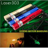 Green Laser Pointer 303 Senter Set Lazer Lampu Hijau