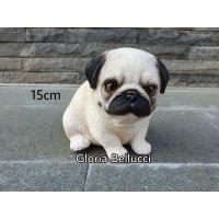 patung pajangan anjing pug miniatur doggy dog
