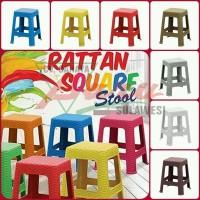 Kursi Plastik Olymplast Square Rotan (Makassar Only)