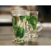 Gelas Kaca Cappucino Susu Borgonovo Glass Cup Conic Made In Italy