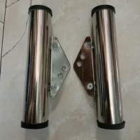 Breket kupingan lampu pesek stenlis as 31 GLPro GL Max Megapro Tige