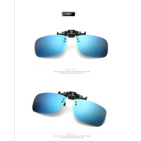 SUNGLASSES POLARIZED BLUE CLIP ON KACAMATA KLIP ANTI UV LENSA BIRU