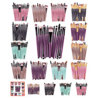 KUAS MAKE UP BRUSH SET 20 PCS - KUAS MAKEUP ASLI IMPORT
