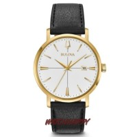 BULOVA ORIGINAL100% 97B172 Aerojet Vintage Gent Leather Watch GARANSI