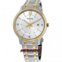 Jam Tgn Pria BULOVA ORIGINAL 100% 98D146 Combi Gold Diamond BestSeller