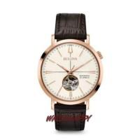 BULOVA ORIGINAL 100 % 97A136 Classic Vintage Leather AUTOMATIC Watch
